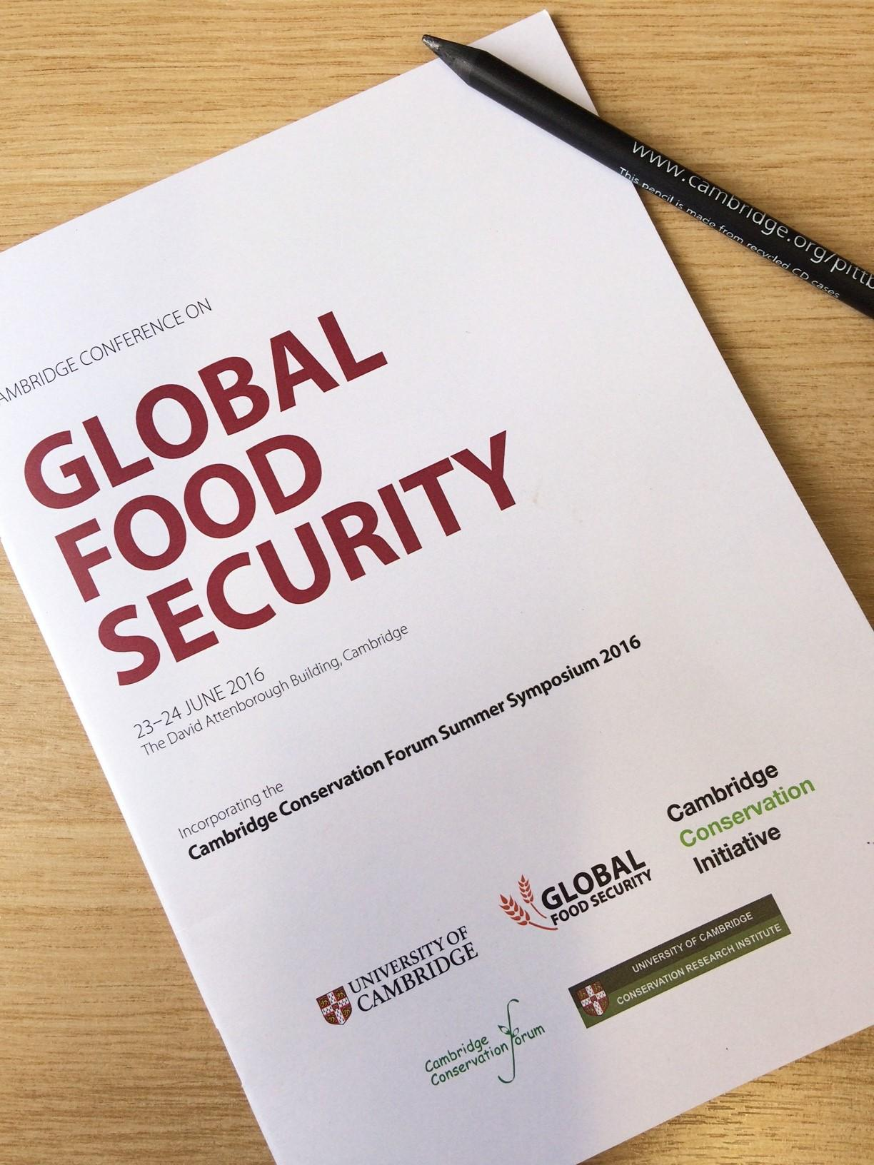 2016 Cambridge Conference on Global Food Security a Great Success
